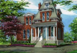 Watercolor-Portrait-of-Cabanne-House-with-Lauren-and-Jeff