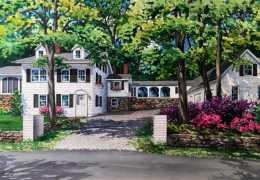 Watercolor-of-Chappaqua-house-c-2017-Richelle-Flecke
