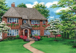 Watercolor-of-Rochester-NY-Home-©-2020-Flecke
