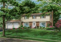 Watercolor-of-our-Oakville-home-c-Richelle-Flecke