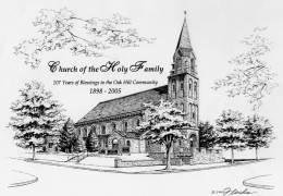 Illustration-of-Holy-Family-Church-in-Pen-Ink