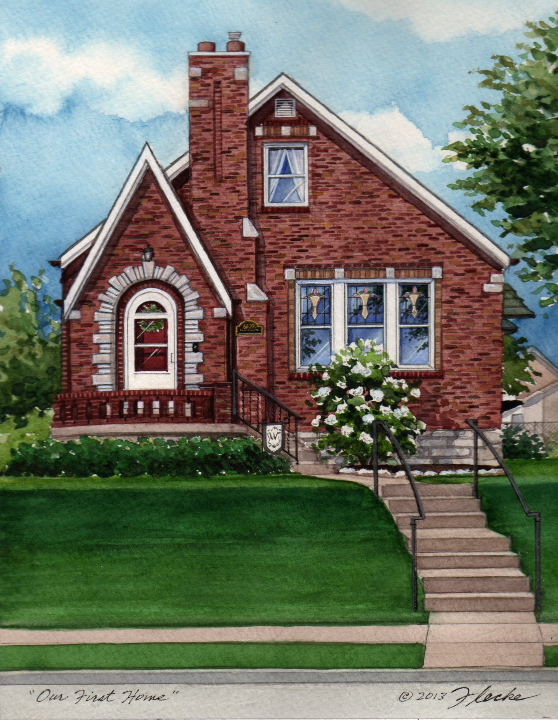 Painted Brick Tudor House