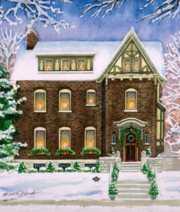 Christmas Tudor Home (c) 2012 Richelle Flecke