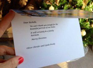 Christmas card inside message