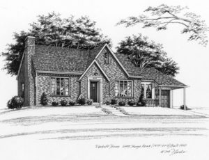 Pen and Ink of Affton Home (c) 2018 Richelle Flecke