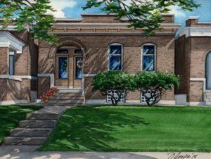 Watercolor of Idaho St Home (c) Richelle Flecke
