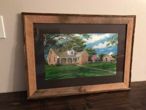 Framed Portrait of Waterloo, IL Home