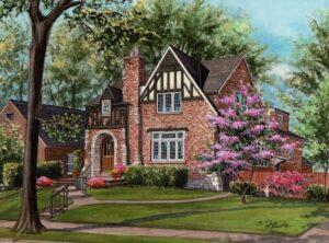 St Louis Tudor style home © Richelle Flecke
