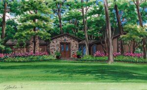 Watercolor custom house portrait