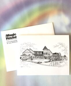 Magic House note card and envelope